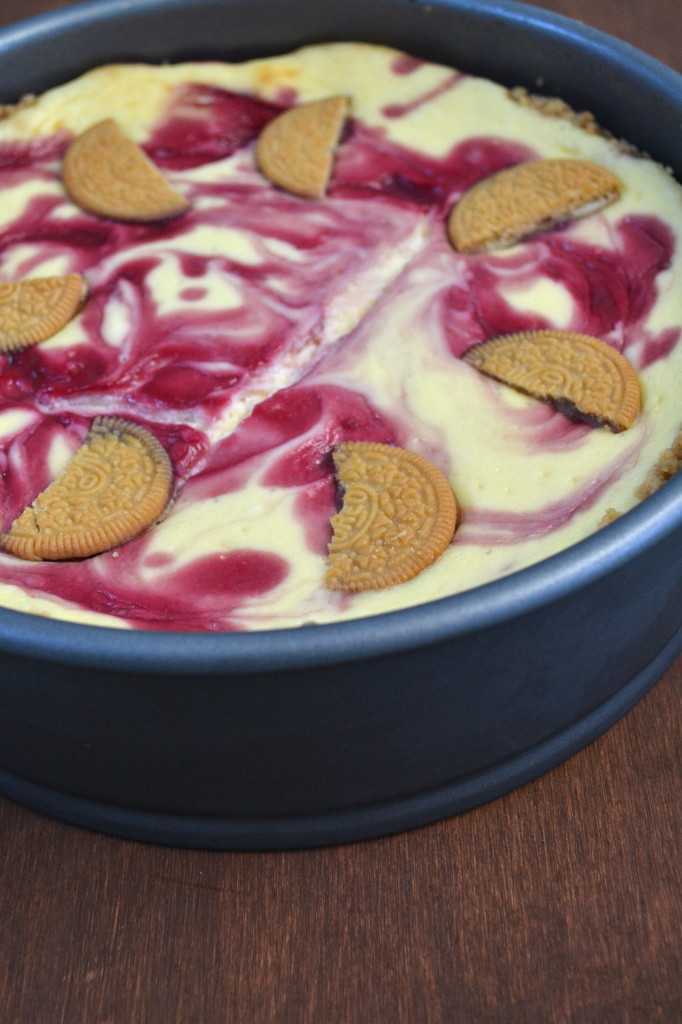 This Golden Oreo Crust Raspberry Cheesecake is quite the decadent treat! If you want to impress your friends and family with a delicious sinful dessert, you have to give them this!