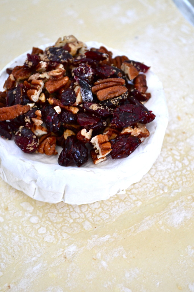 Pecan & Cranberry Pastry Wrapped Brie