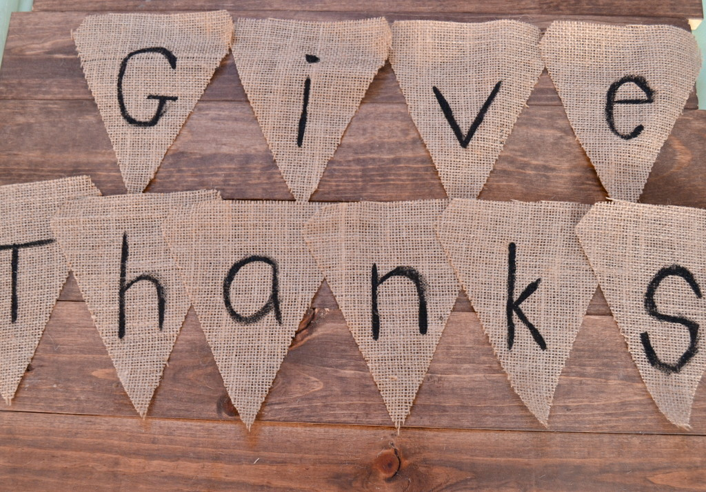 DIY Pendant Banner: Give Thanks