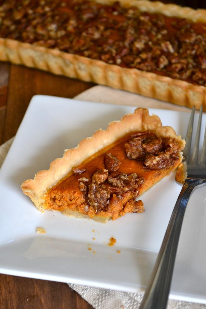 Pumpkin Pecan Tart
