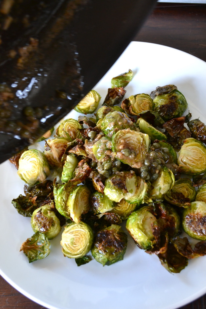 Lemon Garlic Brussel Sprouts