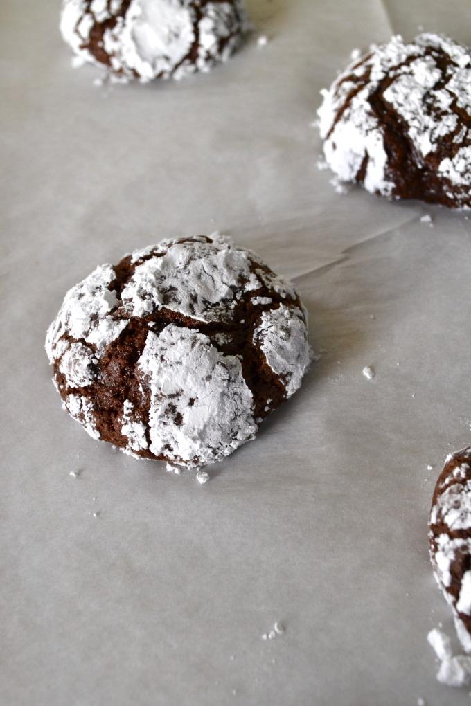 Chocolate Orange Crinkle Cookies