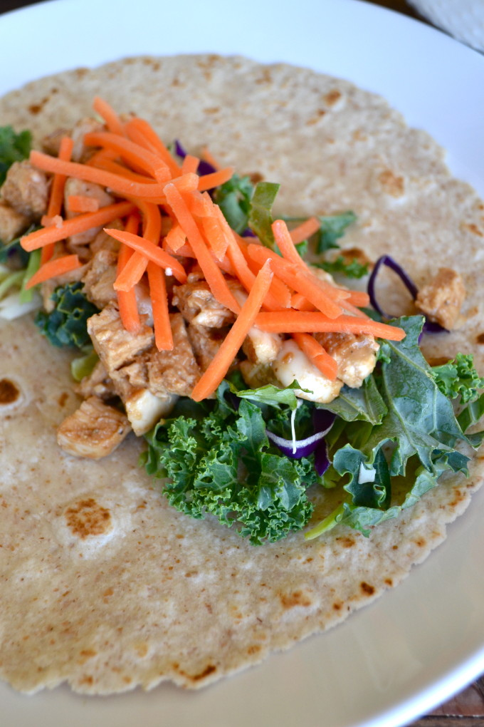Low Calorie Thai Chicken Wrap