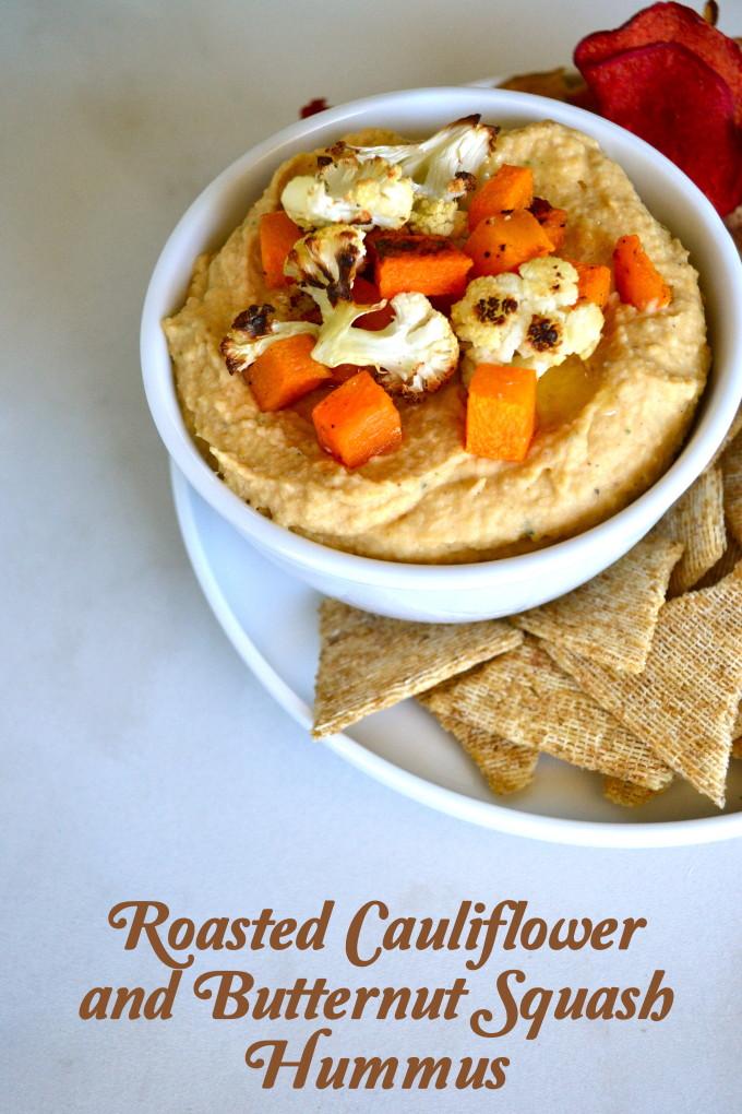 Roasted Cauliflower and Butternut Squash Hummus