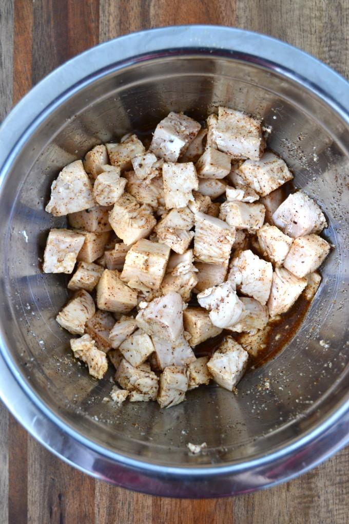Salsa Verde Chicken & Cauliflower Bake