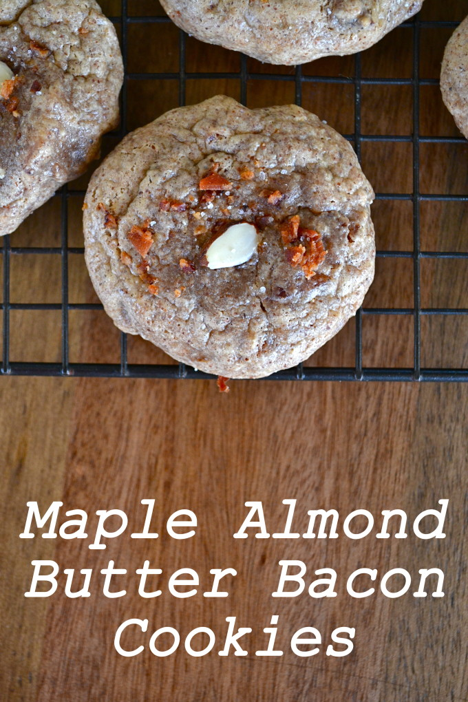 Maple Almond Butter Bacon Cookies