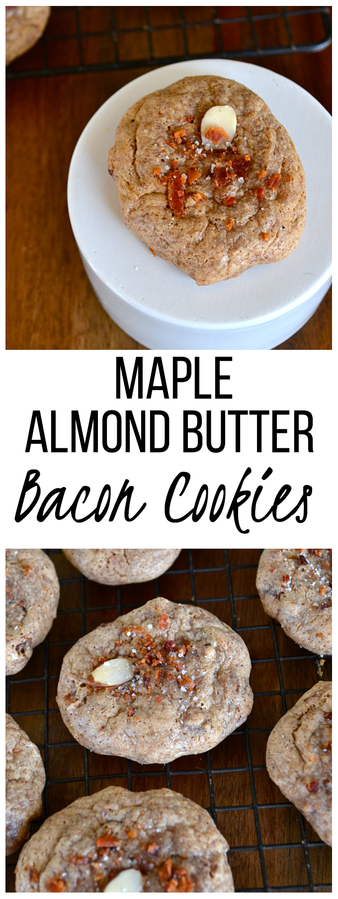 Maple Almond Butter Bacon Cookies - Grain free, paleo and so tasty!