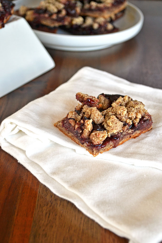 Cherry Almond Crumble Bars - Gluten Free & so simple to make!