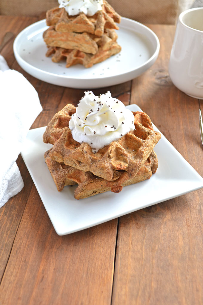 Gingerbread Chia Seed Waffles