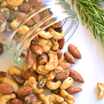 Garlic Herb Roasted Nuts - Paleo and done in 20 minutes!