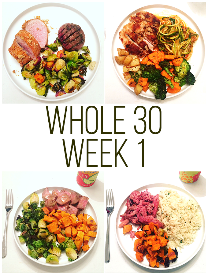 My Whole30 experience - week 1: meals & how I feel!