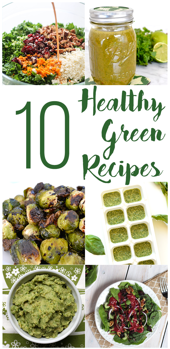Here are 10 Healthy Green Recipes so you can celebrate St. Patricks day with no guilt! From Pancakes to Pesto this list has you covered.