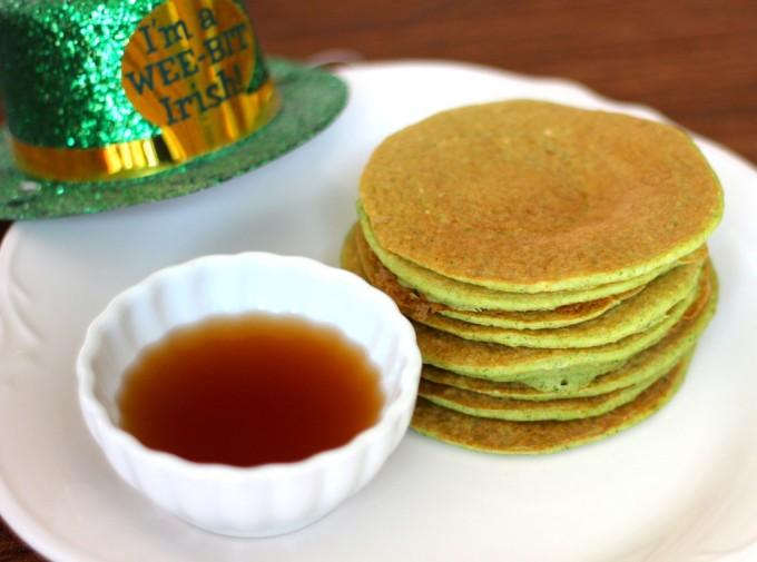 Zucchini Bread Pancakes - a Healthy Green Recipe Roundup