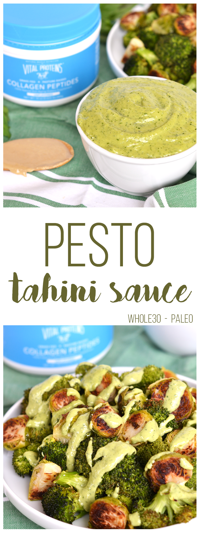 This Pesto Tahini Sauce Is Whole30 Paleo Perfect To Top On Veggies Meat