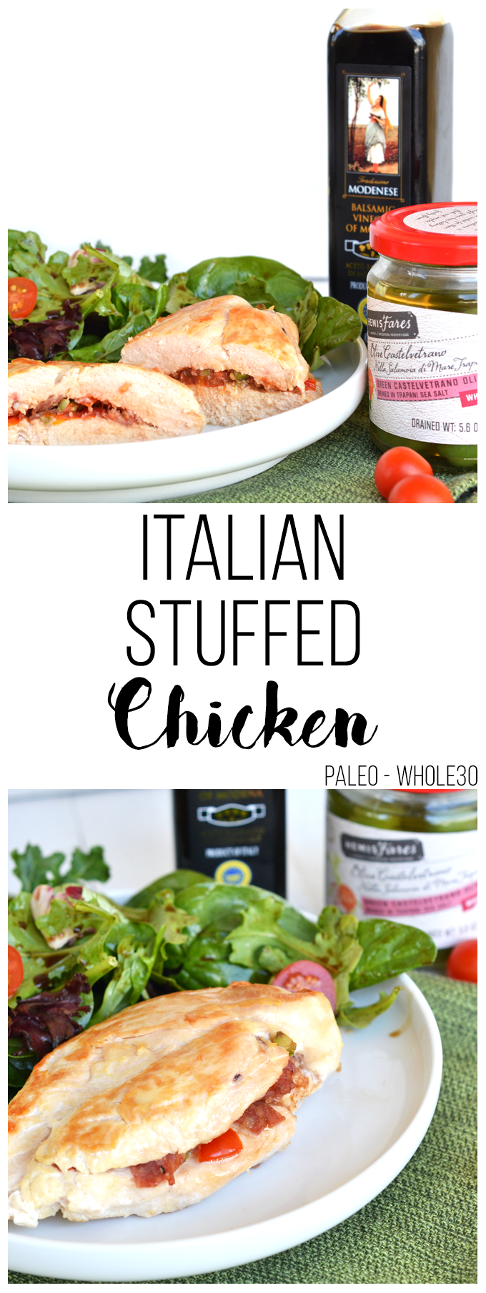 This Italian Stuffed Chicken is the perfect weeknight meal & a great way to add flavor to chicken breasts!