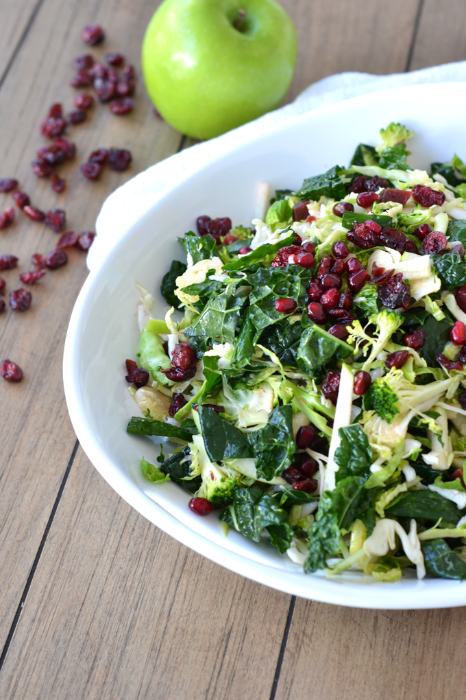 This Superfood Salad is packed with tons of nutrients and coated with a Vanilla Lime Vinaigrette! Paleo & Whole30 compliant!