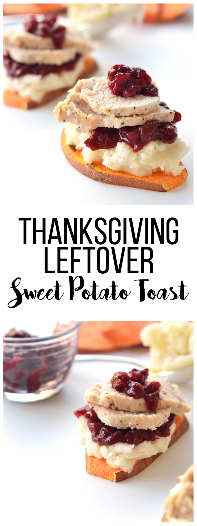 This Thanksgiving Leftover Sweet Potato Toast is a great way to use up your thanksgiving leftovers in a healthy way!