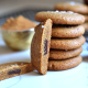 These Chocolate Stuffed Cashew Butter Cookies are a simple, grain free & refined sugar free treat!
