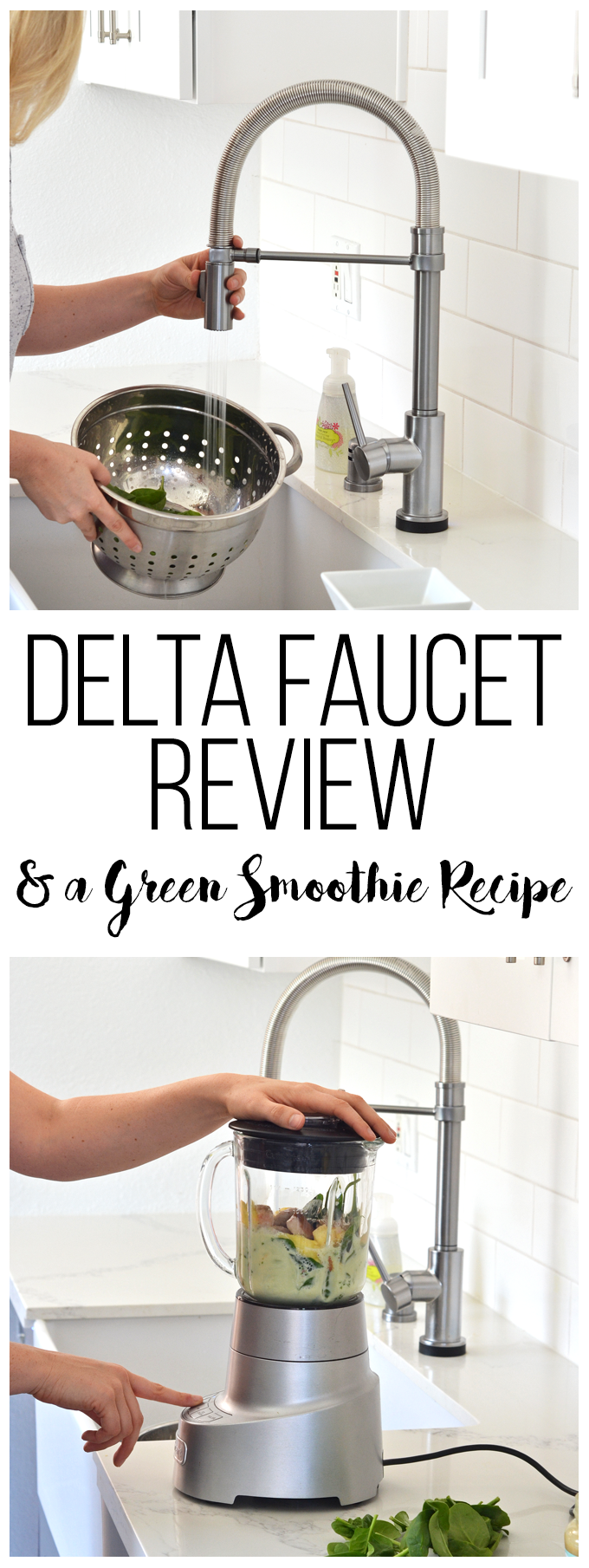 This Delta Faucet has touch2O technology to make cleaning dishes and rinsing greens a breeze!