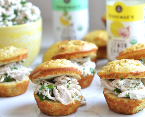 These Lemon Garlic Chicken Salad on Paleo Ranch Buns are a delish and simple paleo lunch!