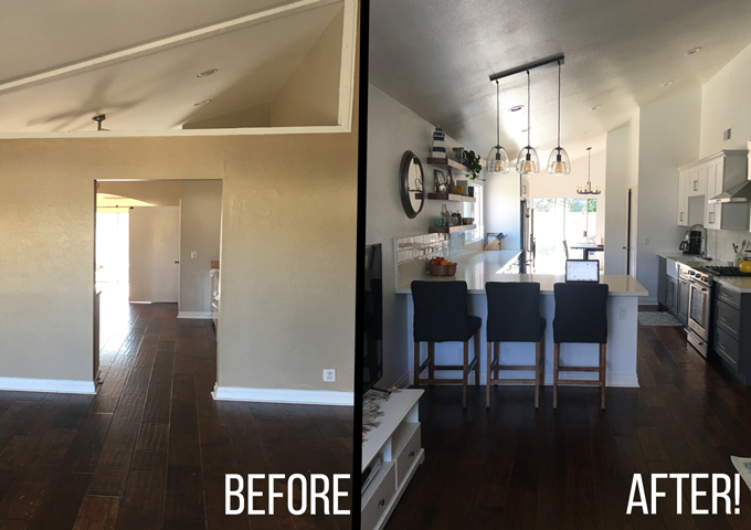Good Before And After Of My 5 Week Kitchen Remodel!