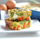 This Spring Veggie Egg Bake is a great way to get your vegetables in at breakfast! Also a great Whole30 & Paleo option for Easter Brunch!