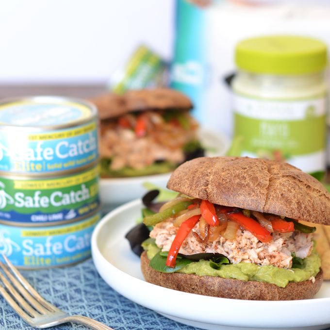 These Chili Fajita Tuna Sandwiches are an easy and paleo meal that is bursting with flavor!