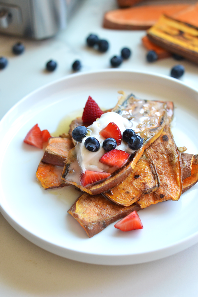 Sweet Potato Toast French Toast - a fun and grain free twist on a classic breakfast!