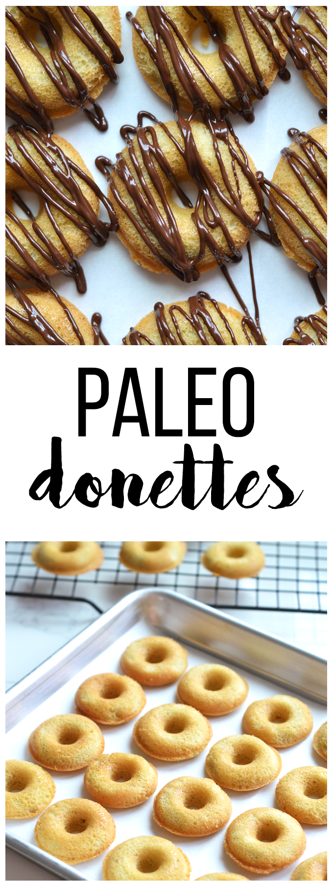These paleo donettes are perfect little bites of a grain free treat!