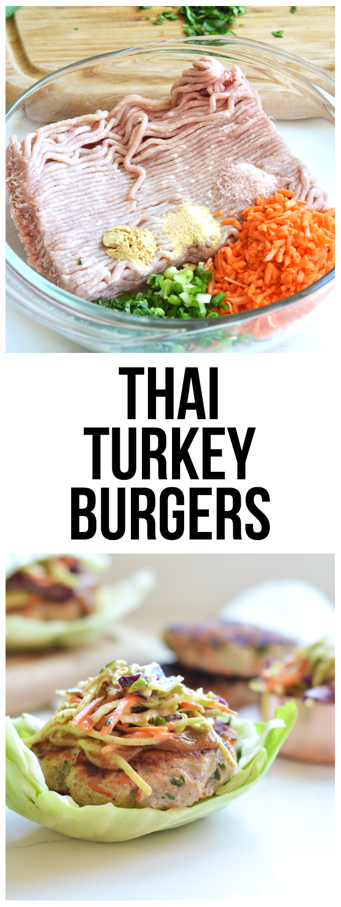 These Thai Turkey burgers are bursting with flavor and are clean and Whole30 compliant! Perfect meal for summer!