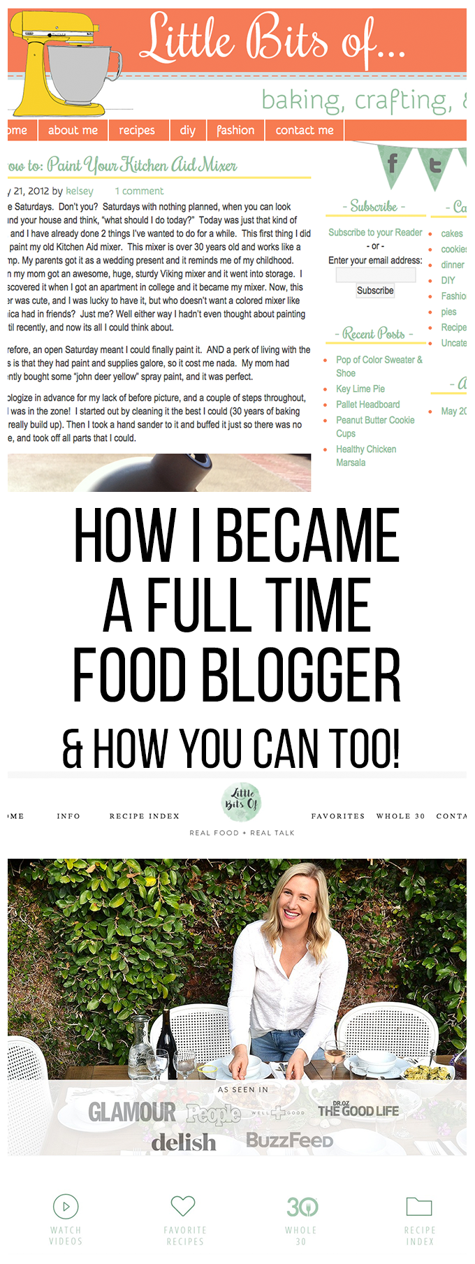 How to become a full time food blogger - my 5 year journey to have the career of my dreams!