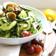 This Cold Pesto Zucchini Pasta Salad is great for a summer get together and is paleo and Whole30!