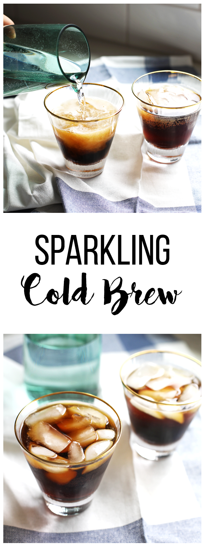 This Sparkling Cold Brew is the perfect cold drink to sip in the afternoon or on a warm morning!