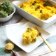 "This Broccoli ""Cheese"" Spaghetti Squash Bake is a great way to celebrate fall comfort food with none of the guilt! With a cheese sauce made from butternut squash this is Paleo and Whole30!"
