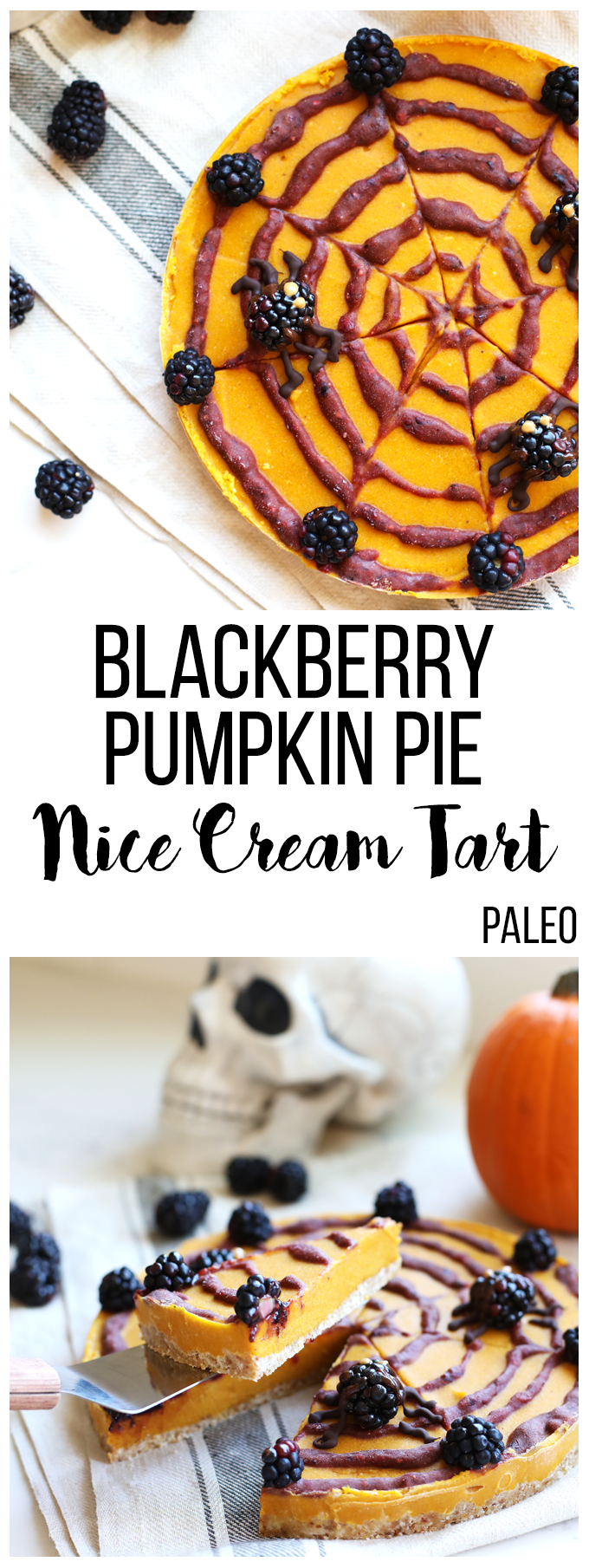 This Blackberry Pumpkin Pie Nice Cream Tart is a perfect way to use up your berries and get into the holiday spirit! Using California Giant Berry blackberries! #ad