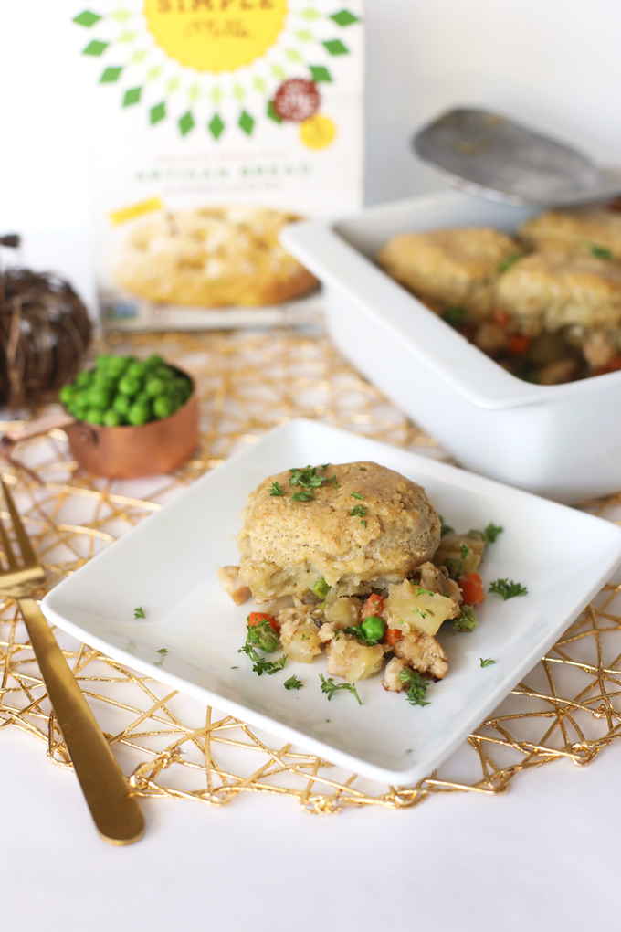 This Chicken Pot Pie Casserole is the best way to enjoy comfort food in a paleo, healthy and delicious way!
