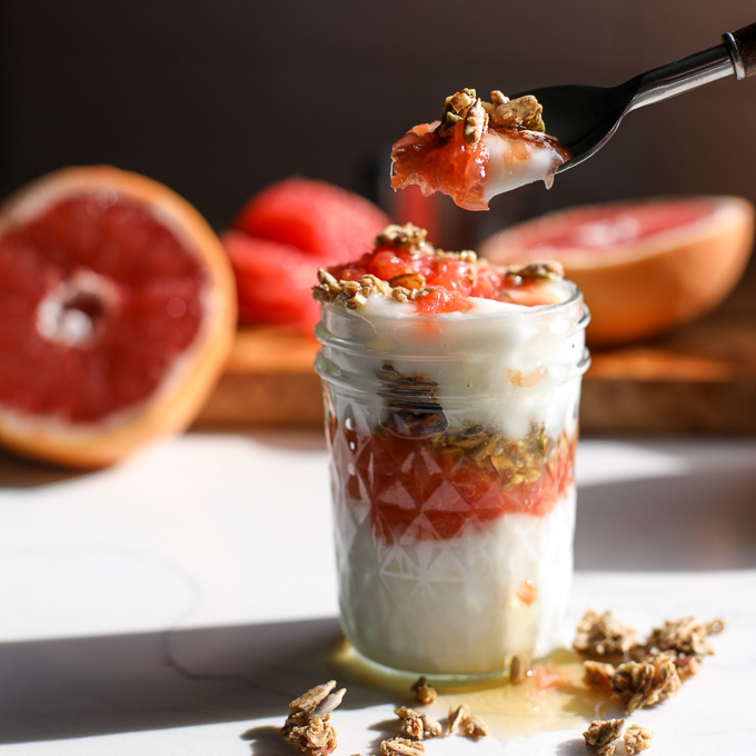 This Grapefruit and Coconut Yogurt Parfait is a tasty and simple way to start your day! Full of fresh flavor!