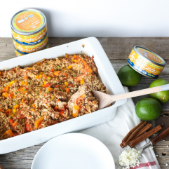 This Tandoori Tuna and Cauliflower Rice Bake is a super easy and whole30 meal that is a crowd pleaser!