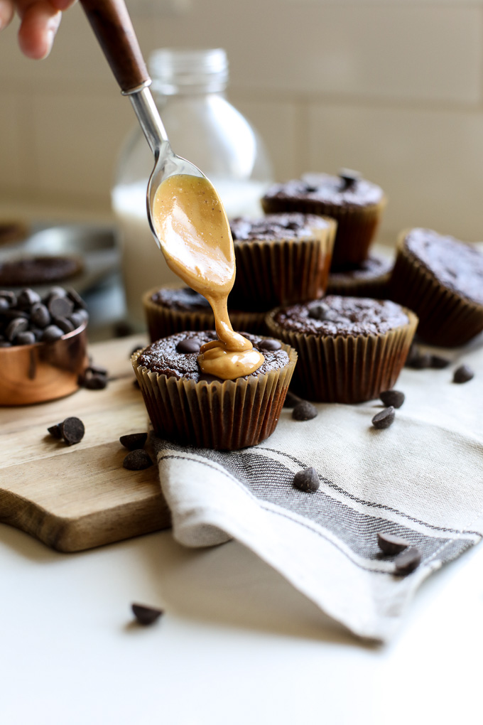 These Grain Free Chocolate Muffins are sweetened with just a little honey which makes them paleo but so tasty that anyone will love them!!