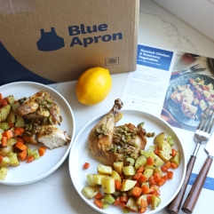 Roasted Chicken and Rosemary Vegetables - a Whole30 compliant meal from Blue Apron!