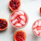 This blood orange vanilla mocktail is a great drink alternative if you aren't drinking alcohol!