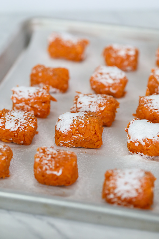 These Sweet Potato Tater Tots with Honey Mustard Dipping Sauce are the perfect side dish that both adults and kids will love!