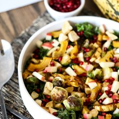 This Roasted Harvest Veggie Salad is a great way to eat a variety of vegetables all in one paleo and whole30 side dish!