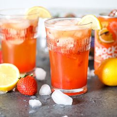 This Shocking Strawberry Lemonade is so delicious and perfect for any party!