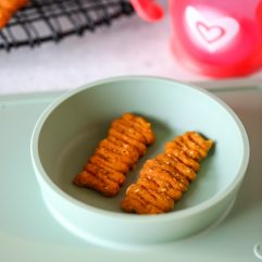These Sweet Potato Biscuit Bites are for babies that are just starting baby led weaning and need a nutrient dense food that is easy to mush up in their mouth!