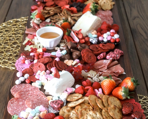 This Valentine's Day Charcuterie Board is perfect for any valentines or galentines day party!!