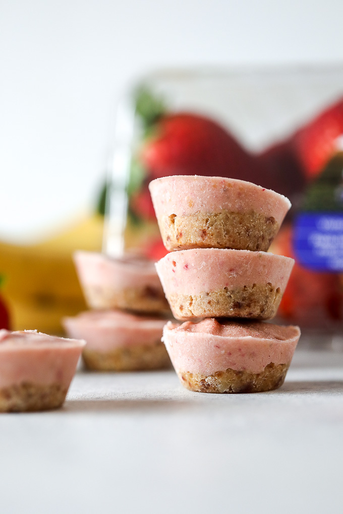 These PB & J Nice Cream Bites are dairy free, grain free, and full of flavor! A great afternoon snack or dessert!