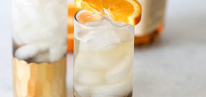 This Bourbon Orange Spritz is the perfect bourbon cocktail for warm days that is a cleaner and healthier version than most!