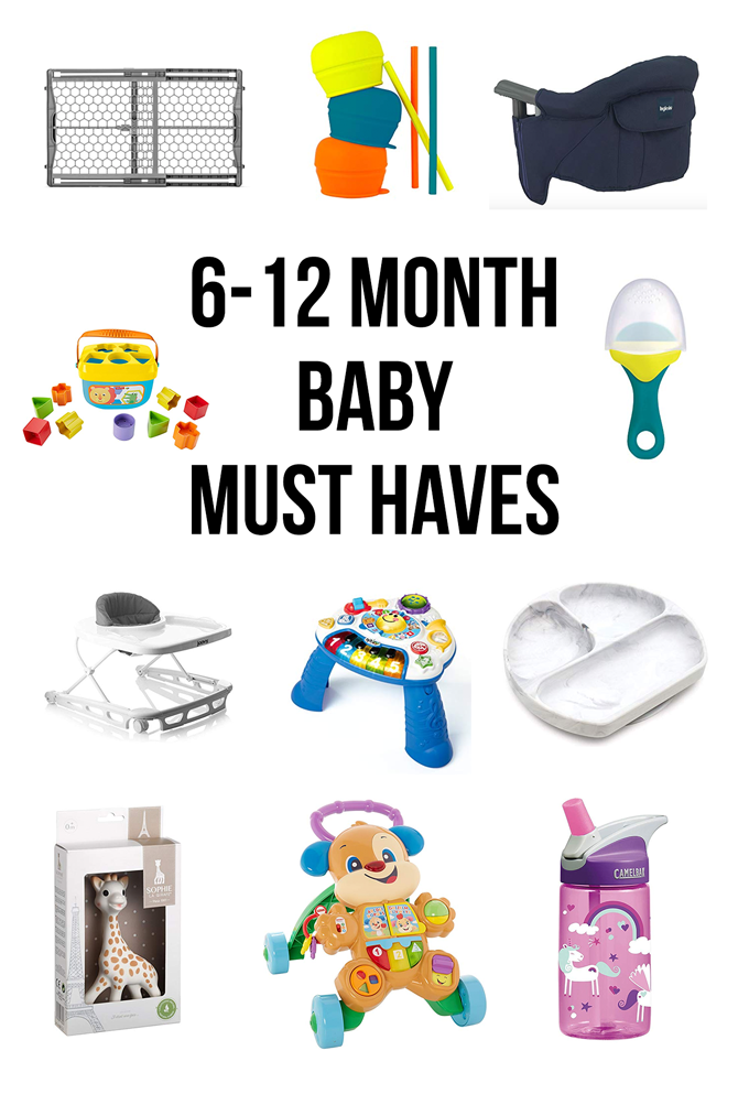 This list of 6-12 month baby must haves will get you ready for craziness!