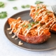 These Twice Baked Chipotle Chicken Sweet Potatoes are whole30 compliant, easy to throw together and can be prepped ahead of time!